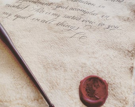 Vintage letter with wax seal