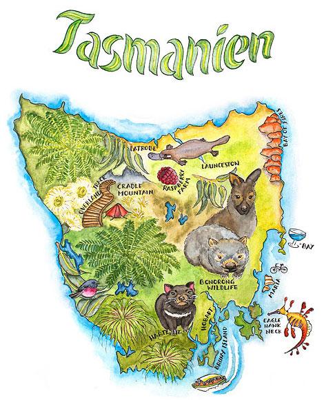 Tasmanien Map