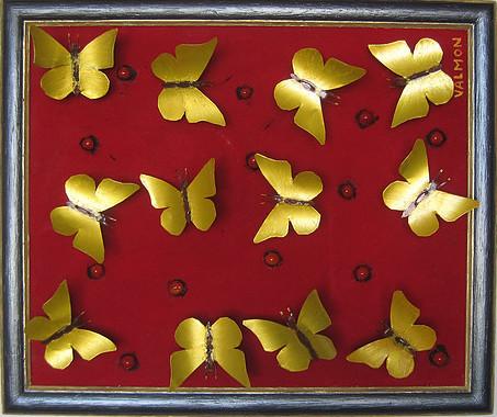 borboletas doradas - golden butterflies