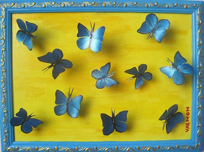 Borboletas azuis Valmoninis - Butterflies Bluesis Valmoninis