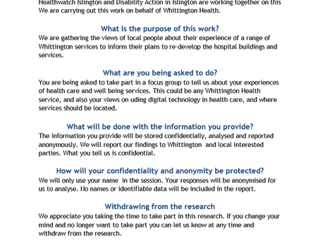 Short Questionnaire about urgent & emergency care at Whittington Health