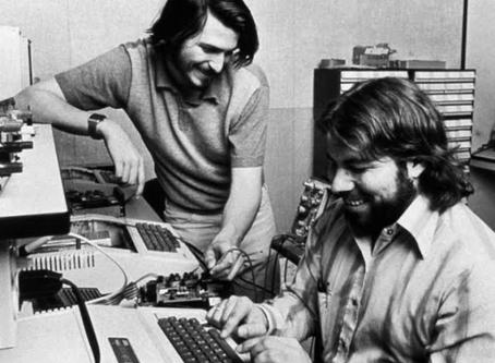 Steve Wozniak and Steve Jobs POWER TEAM