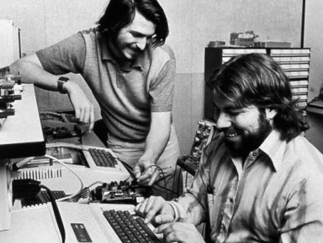 Steve Wozniak and Steve Jobs POWER TEAM