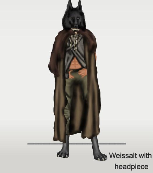 Weissalt with headpiece