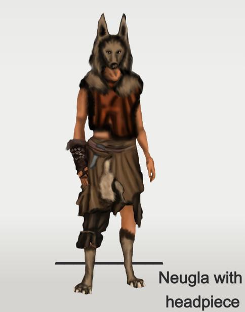 Neugla with headpiece