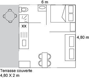 Plan du bungalow pour 4 personnes