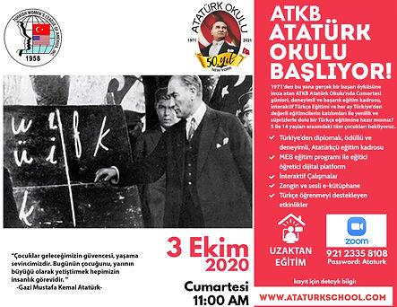 50 Yil - Acilis Posteri - Ataturk Okulu.