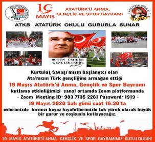 Sanal Ortamda 19 Mayıs Gençlik ve Spor Bayramını kutladık..