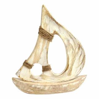 Wooden Boat Sculpture