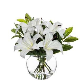 Lily Mix in Glass Bowl