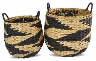 Natural & Black Woven Baskets