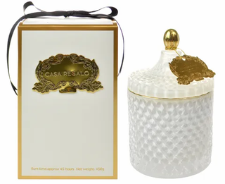 Orchid Candle (White & Gold)
