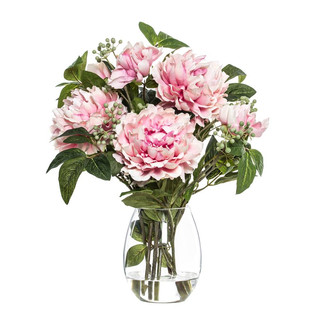 Peony Berry Mix in Claire Vase (Pink)
