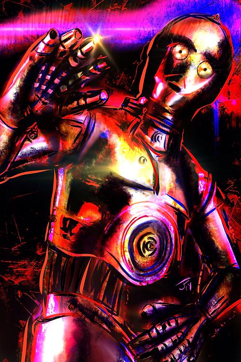 """Human-Cybor Relations"" Art Print"