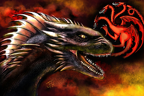 """""""Fire and Blood"""" Art Print"""