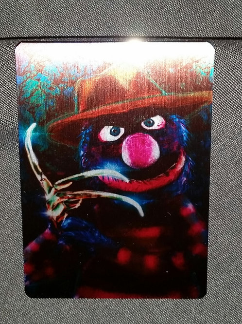 """Nightmare on Sesame.."" METAL collectible card #28"