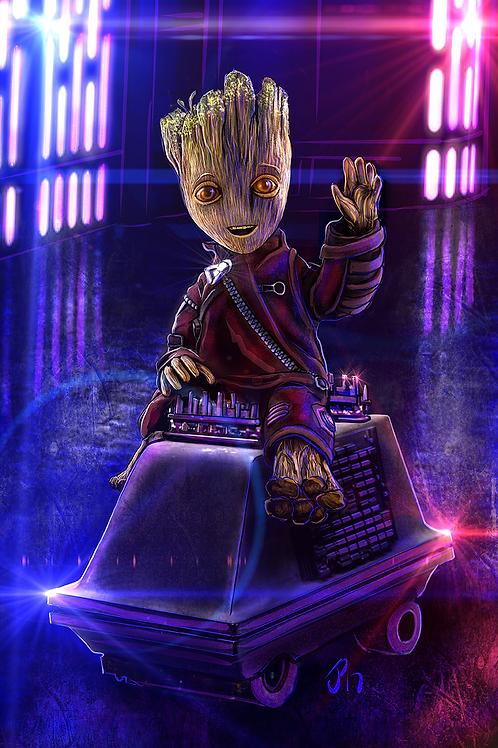 """Riding Around The Galaxy"" Art Print"
