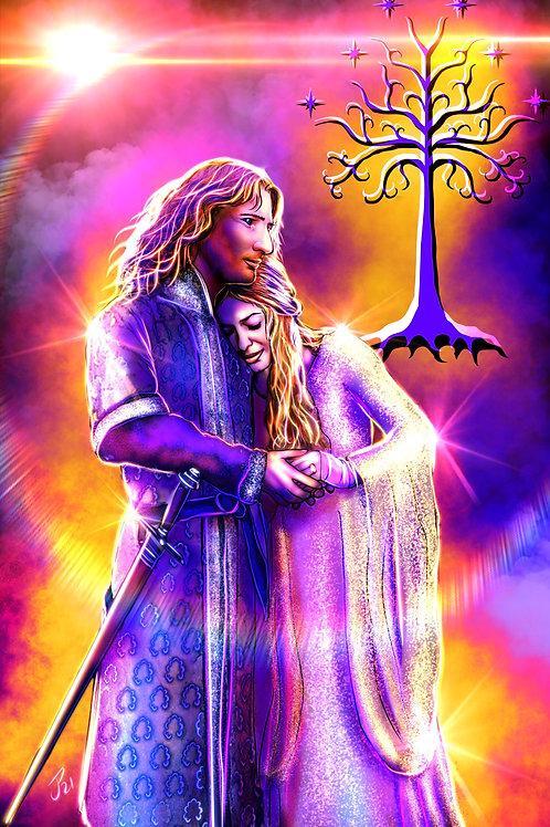 """""""Faramir and Eowyn"""" Art Print"""