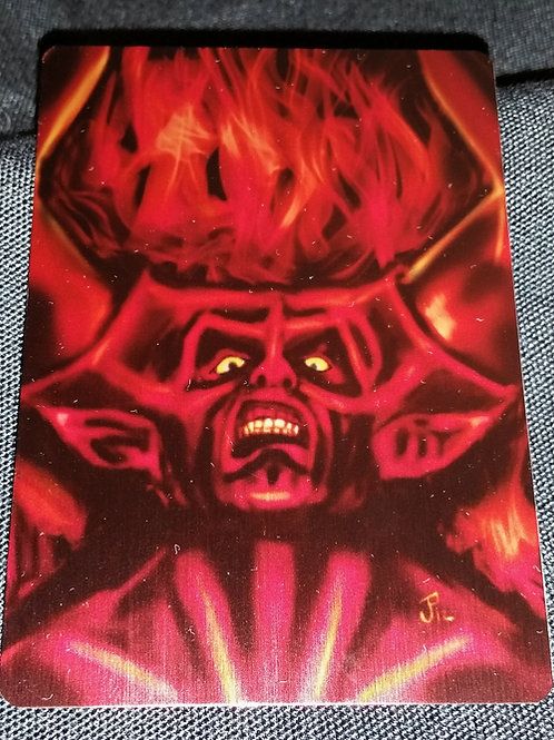 """""""Darkness"""" METAL collectible card #02"""