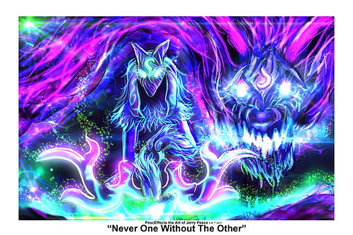 """""""Never One Without The Other"""" Art Print"""