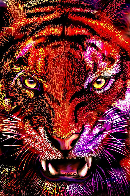 """Tiger Eyes"" Art Print"
