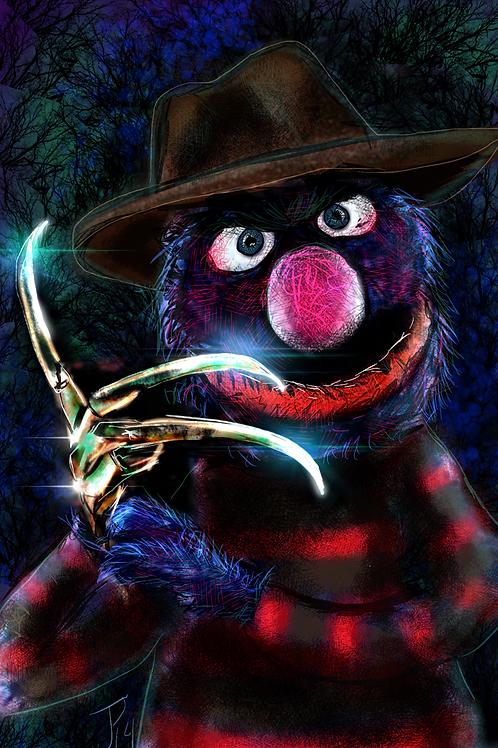"""""""Nightmare on Sesame Street""""  Art Print"""
