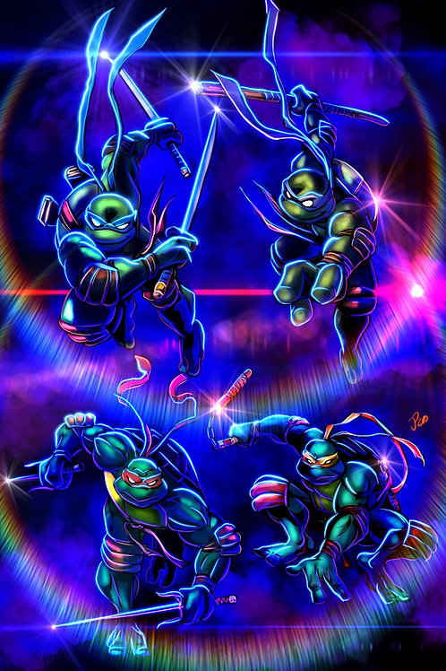 """Turtle Power!"" Art Print"