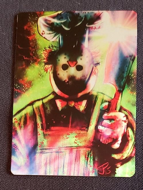 """""""CH-CH-CH- BORK! BORK! BORK!"""" METAL Collectible Card #102"""