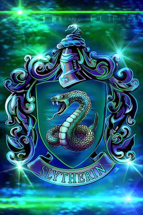 """""""Slytherin House"""" Limited Edition Metal Print"""