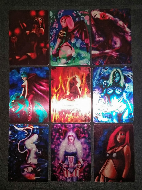 """PinUps of Fantasy"" METAL Card Set"