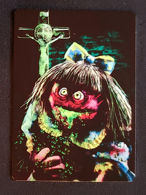 """""""What An Excellent Day For An Exorcism"""" METAL Collectible Card #105"""