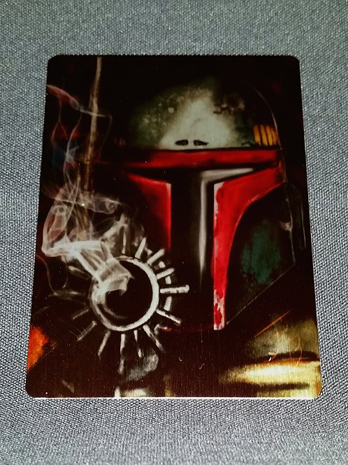 """The Fett"" METAL collectible card #47"