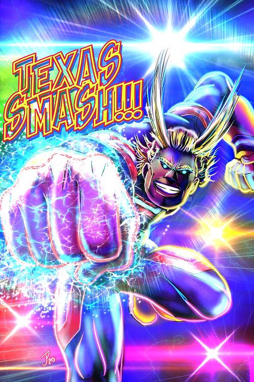 """Texas Smash!"" Art Print"