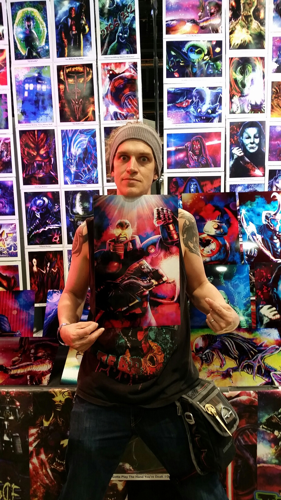 Jay Mewes bought Jerry's Apocalypse piece at Wizard World Las Vegas!