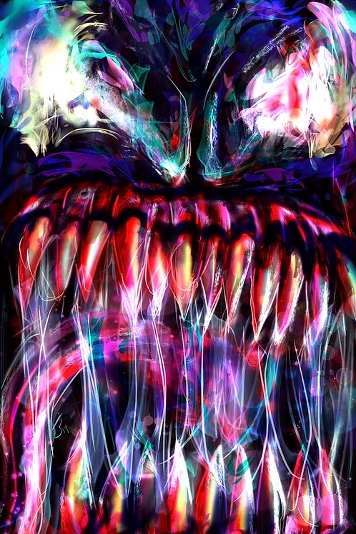 """Symbiote Snarl""  Art Print"