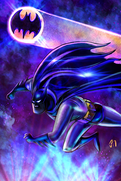 """I Am the Darkness, I Am The Night"" Art Print"