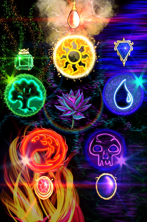 """Power Of The Colorwheel"" Art Print"