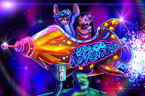 """Space Adventure!"" Art Print"