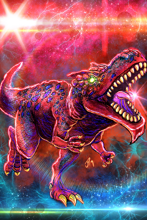 """Welcome To Dinosaur World"" Art Print"