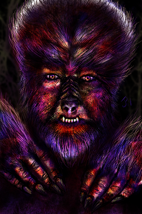 """The Wolfman"" Art Print"