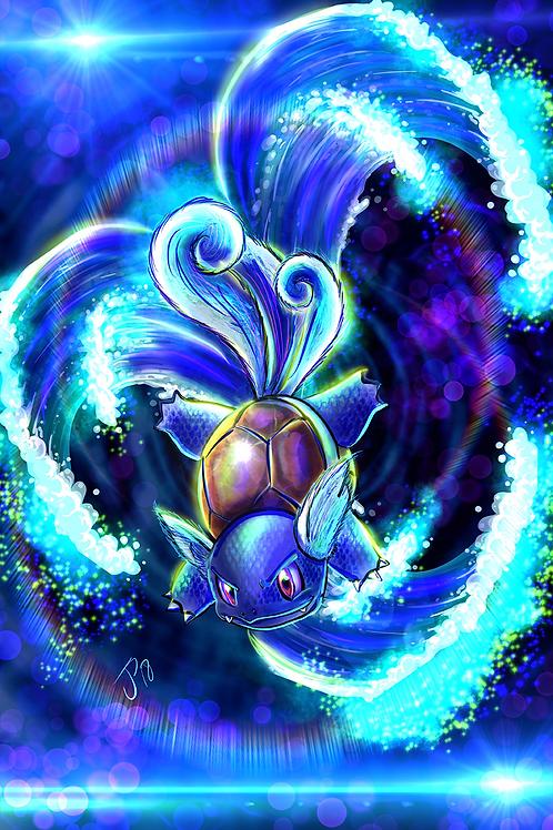 """""""Aqua Tail"""" Art Print"""
