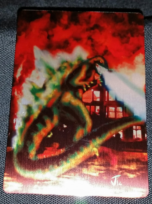 """""""King of The Monsters"""" METAL collectible card #08"""