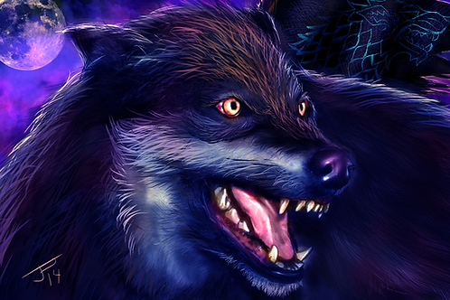 """Dire Wolf"" Art Print"