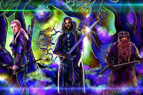 """""""You Have My Sword, My Bow And My Axe """" 3-Piece SET Art Prints"""