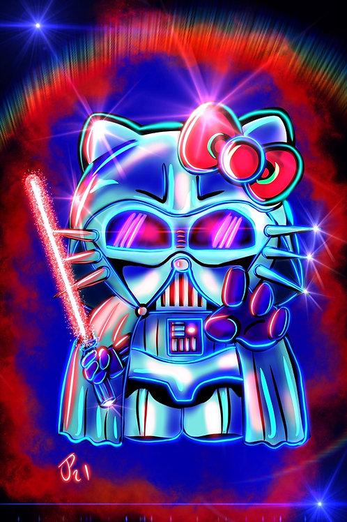"""Darth Kitty"" Art Print"