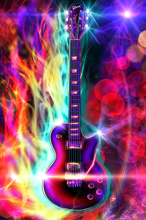 """""""I Play Guitar Because It Lets Me Dream Outloud"""" Art Print"""