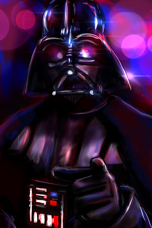 """Dark Lord of the Sith"" Art Print"
