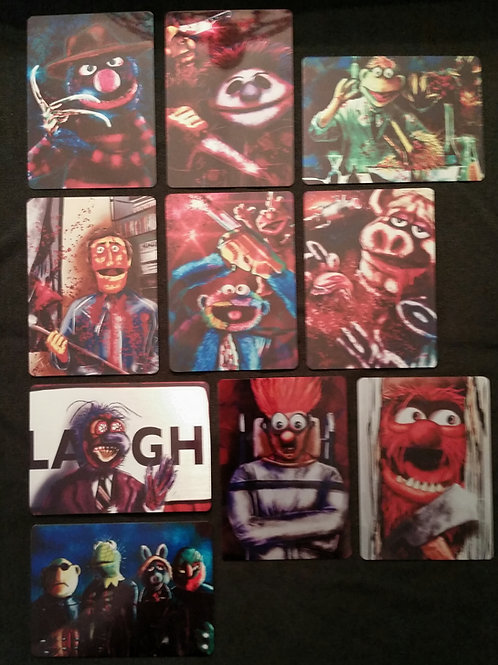 """""""Puppets Unhinged"""" METAL Card Set"""