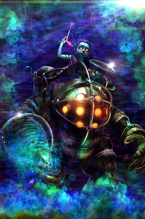 """Mr. Bubbles"" Art Print"