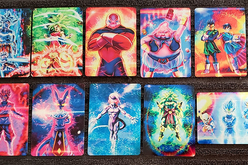 "War Of Fandoms ""Super Saiyan"" METAL Card SET"